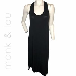 Monk and Lou black racerback dress sz M